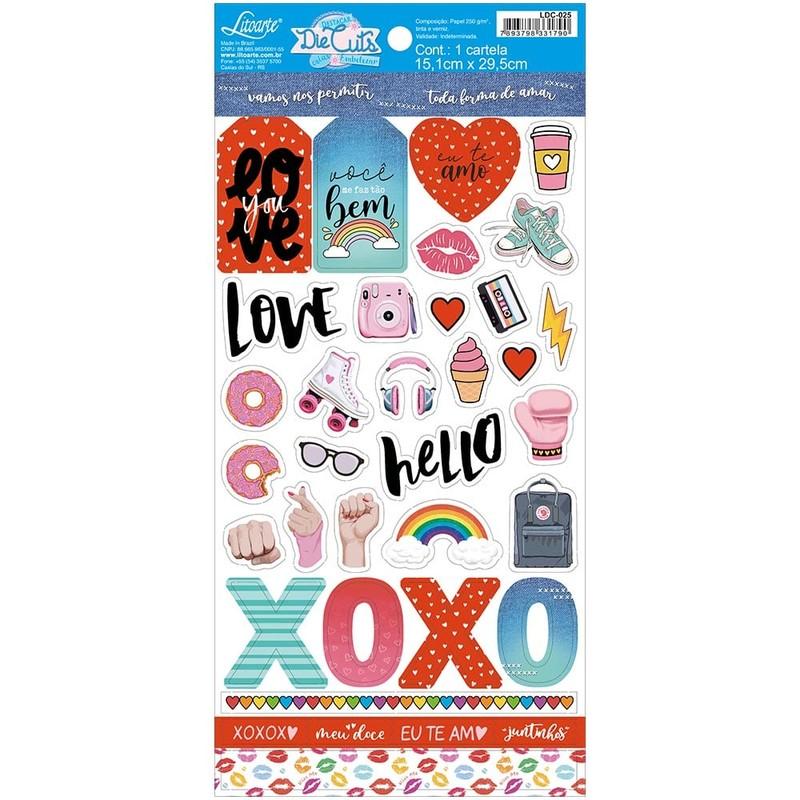 Aplique Scrapbook de Papel Amor LDC-025 - Litoarte