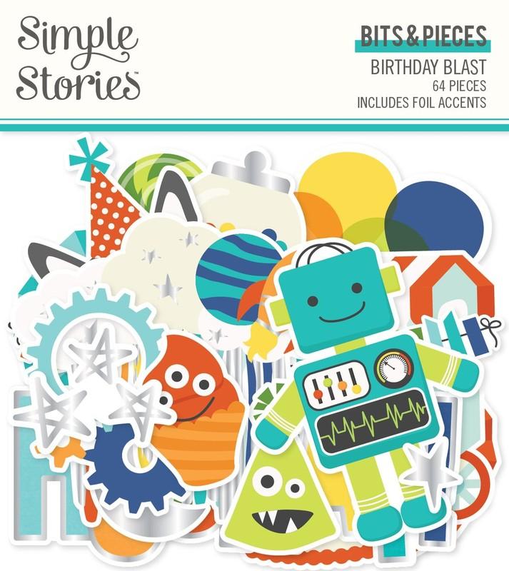 Aplique Scrapbook de Papel Birthday Blast Birthday Blast - Simple Stories