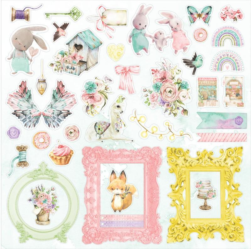 Aplique Scrapbook de Papel Colorful Cor14 - Carina Sartor