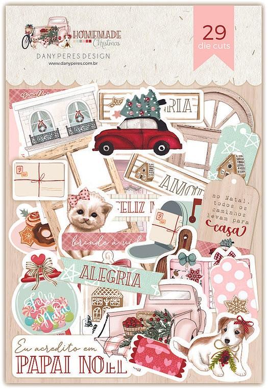 Aplique Scrapbook de Papel Homemade Christimas DP-HC-18 - Dany Peres