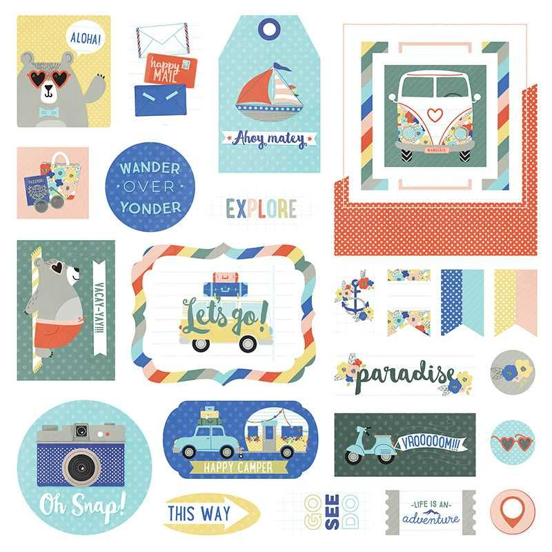 Aplique Scrapbook de Papel Let's Go! - Photo Play Paper