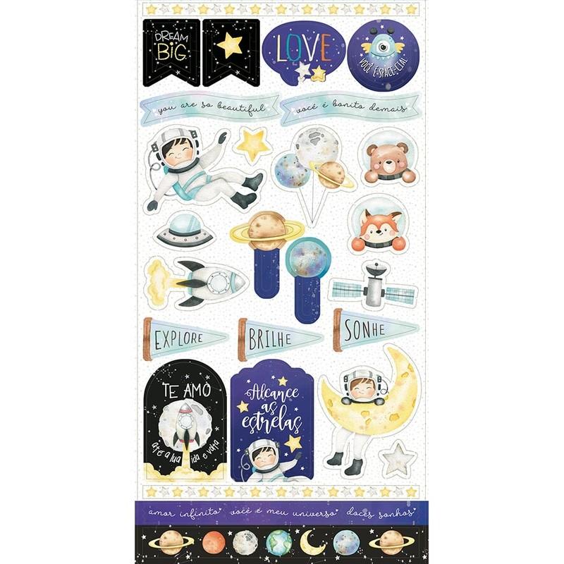 Aplique Scrapbook de Papel Meu Universo LDC-024 - Litoarte