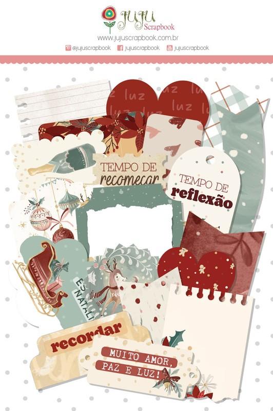 Aplique Scrapbook de Papel Tempo de Celebrar Tempo de Celebrar - Juju Scrapbook