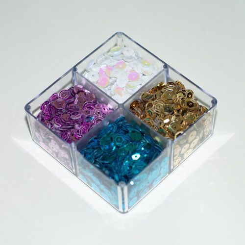 Aplique Scrapbook de Plástico Lantejoulas Tons de Chá Revelação - Scrap Lovely