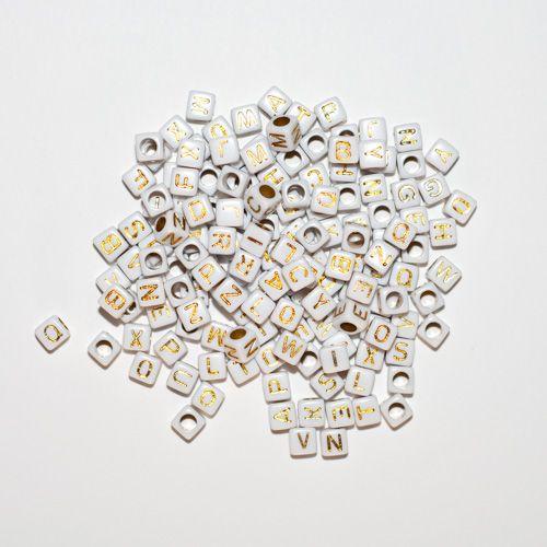 Aplique Scrapbook de Plástico Letrinhas Douradas (Quadrado) - Scrap Lovely