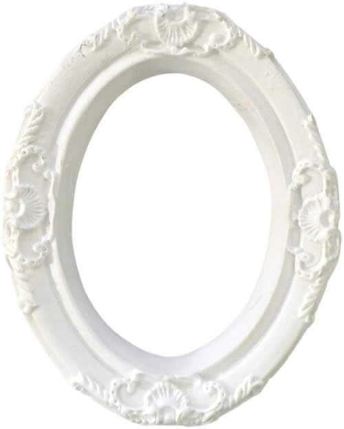 Aplique Scrapbook de Resina Moldura Oval Grande 01 RE-001 - Arte Fácil