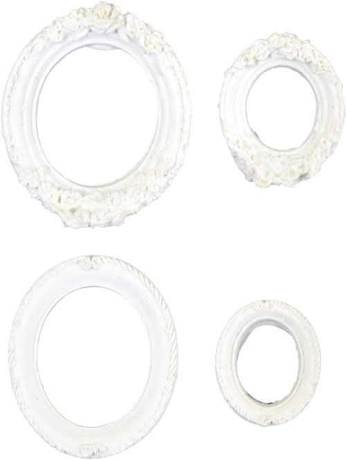 Aplique Scrapbook de Resina Molduras Oval Mini 01 RE-015 - Arte Fácil