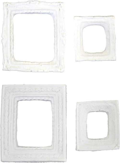 Aplique Scrapbook de Resina Molduras Retangular Mini 01 RE-016 - Arte Fácil