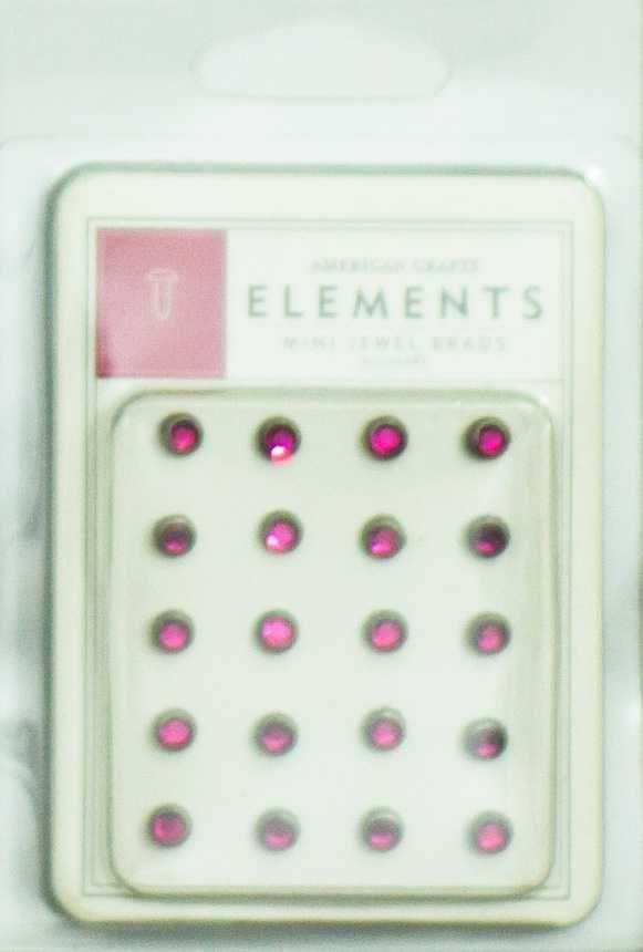 Bailarinas Scrapbook Jóia Mini Rosa Pink - American Crafts
