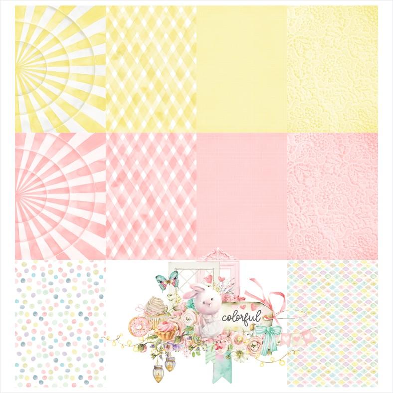 Bloco de Papéis Scrapbook Colorful A4 COR000 - Carina Sartor