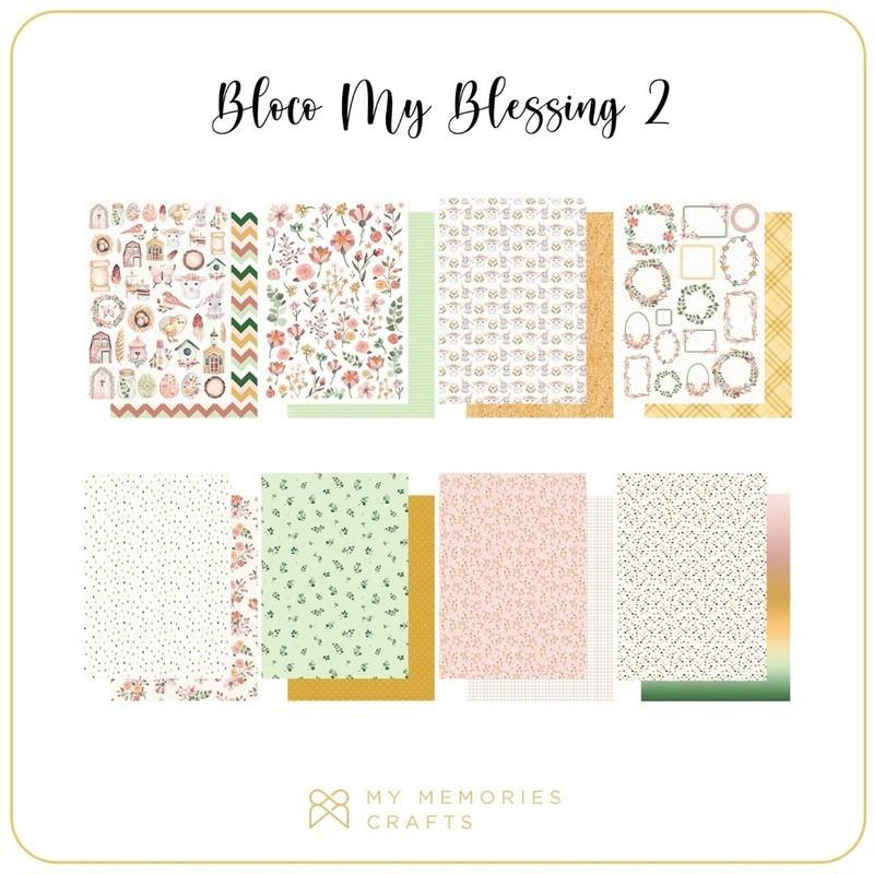 Bloco de Papéis Scrapbook A4 My Blessing - My Memories Crafts