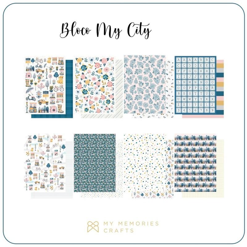Bloco de Papéis Scrapbook A4 My City - My Memories Crafts