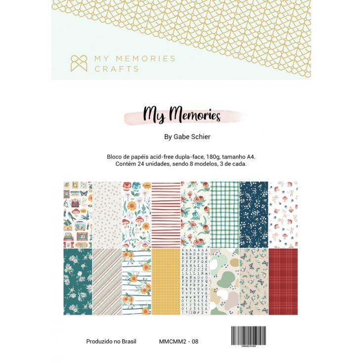 Bloco de Papéis Scrapbook A4 My Memories - My Memories Crafts