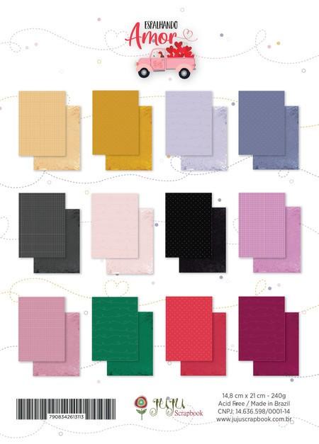 Bloco de Papéis Scrapbook A5 Espalhando Amor - Juju Scrapbook