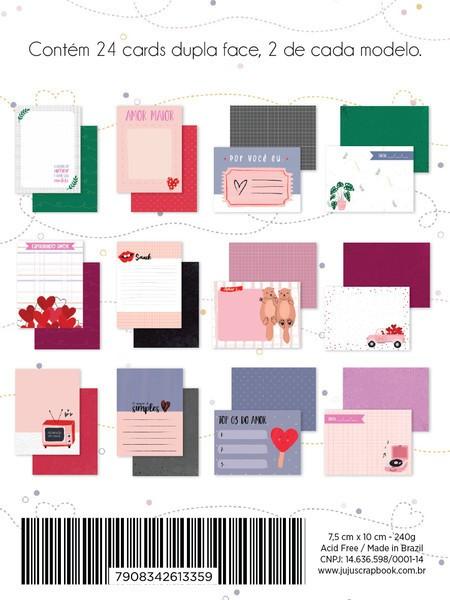 Bloco de Papéis Scrapbook Cards Espalhando Amor  - Juju Scrapbook