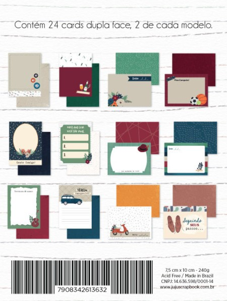 Bloco de Papéis Scrapbook Cards Nosso Herói 12093 - Juju Scrapbook