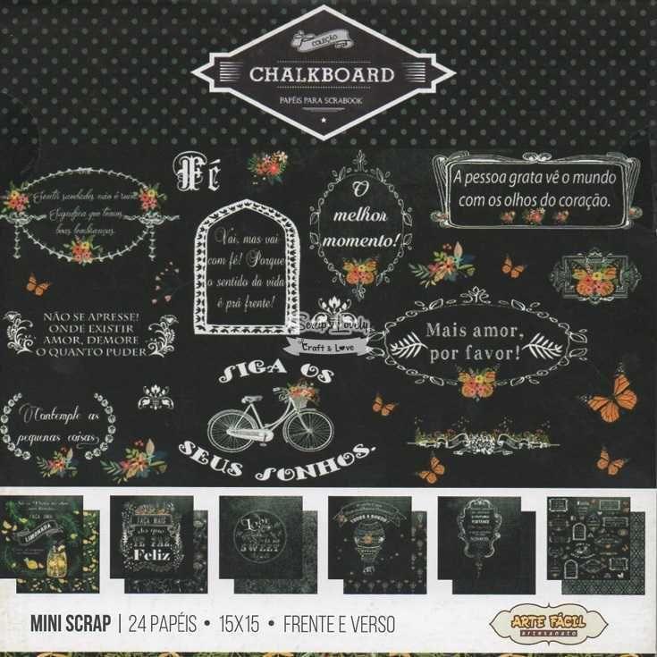 Bloco de Papéis Scrapbook Chalkboard MS-008 - Arte Fácil