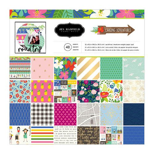 Bloco de Papéis Scrapbook Chasing Adventures - Pebbles
