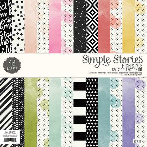 Bloco de Papéis Scrapbook High Style HL7898 - Simple Stories