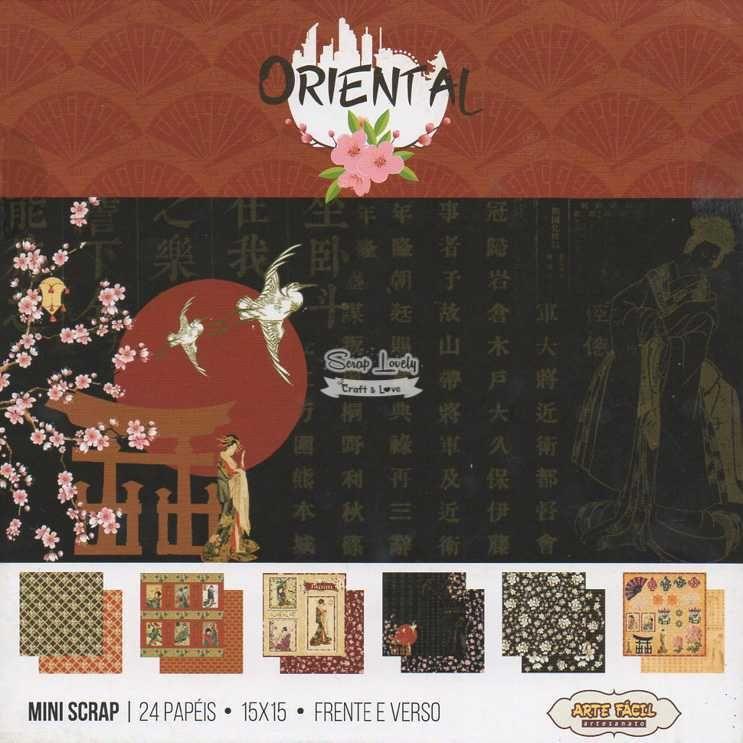 Bloco de Papéis Scrapbook Oriental MS-013 - Arte Fácil