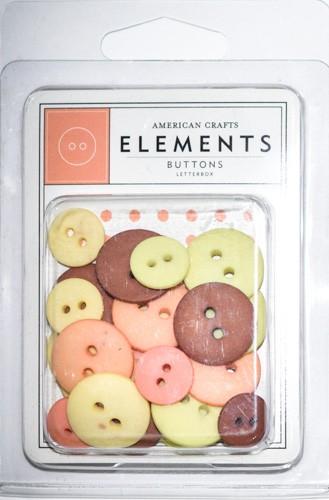 Botões Redondos Sortidos - American Crafts