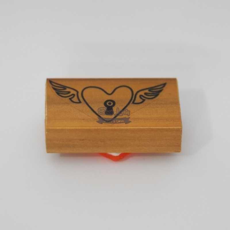Carimbo de Silicone Coração Alado CA-664 - Arte Fácil