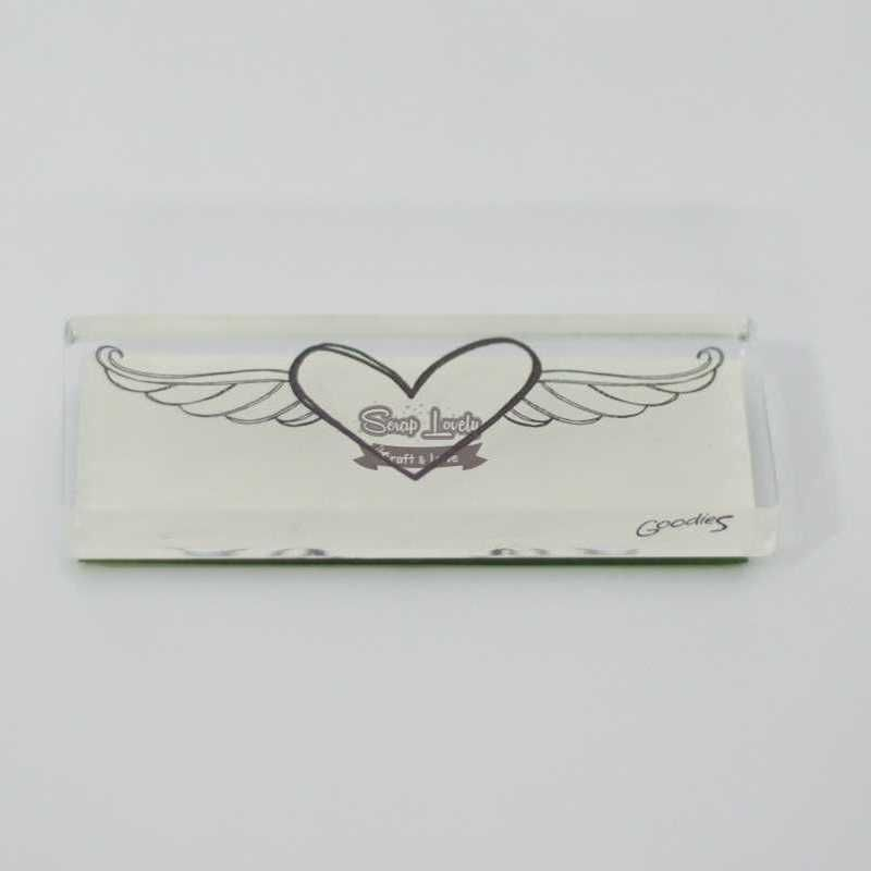 Carimbo de Silicone Coração Alado - Scrap Goodies