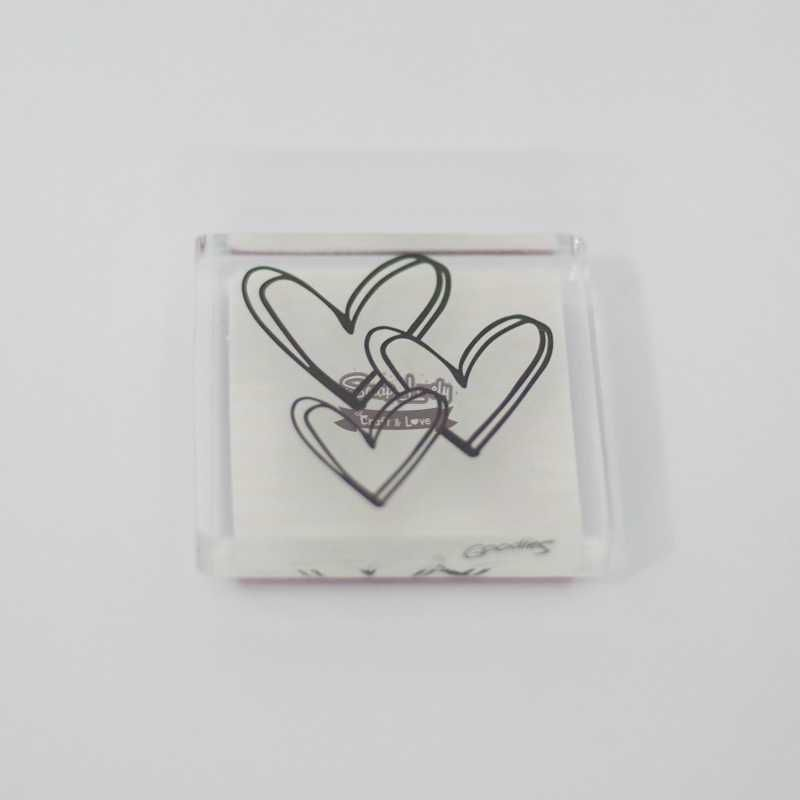 Carimbo de Silicone Corações - Scrap Goodies