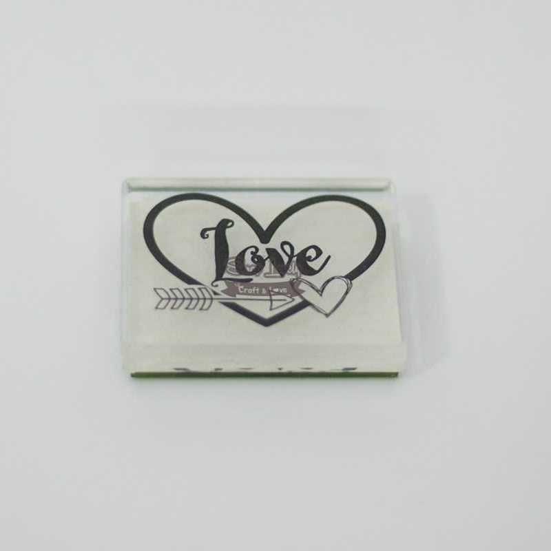 Carimbo de Silicone Love com Flechinha e Coração - Scrap Goodies