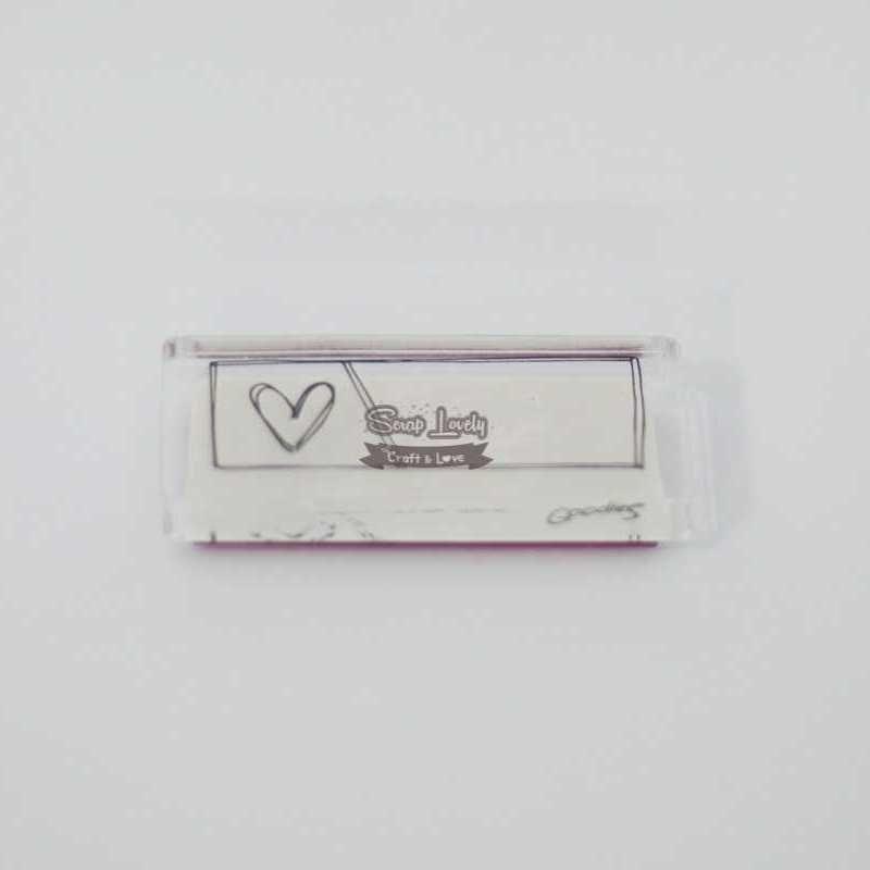 Carimbo de Silicone Selo Tag Coração - Scrap Goodies