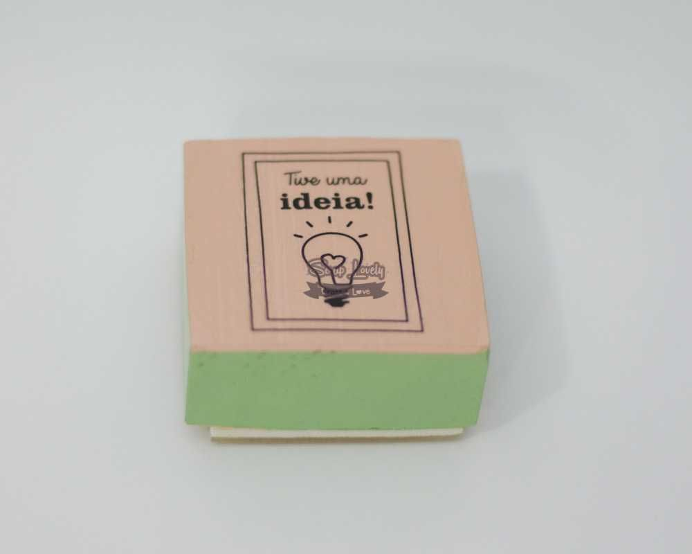 Carimbo de Silicone Tive uma Ideia - JuJu Scrapbook