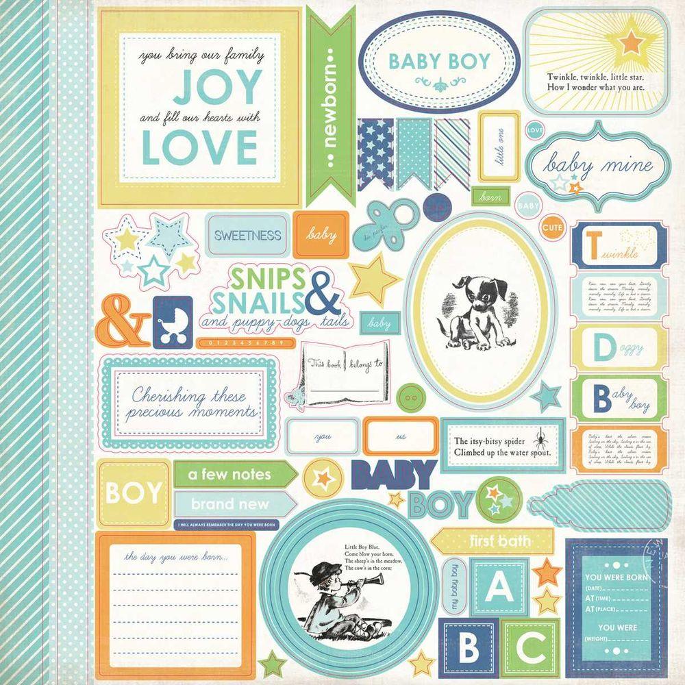 Cartela de Adesivos Baby Mine Boy - Carta Bella