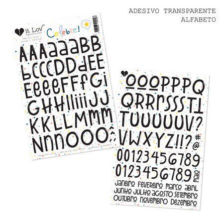 Cartela de Adesivos Celebre Alfabeto - It Lov