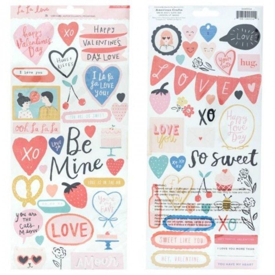 Cartela de Adesivos La La Love - Crate Paper