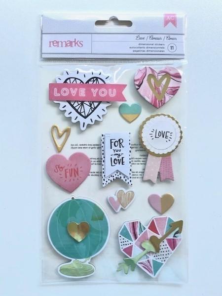 Cartela de Adesivos  Love - American Crafts
