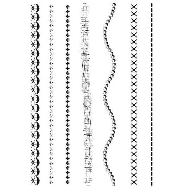 Cartela de Carimbos de Silicone Bordas 16247 (CAS139) - Toke e Crie