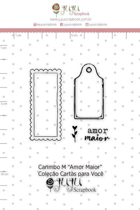 Cartela de Carimbos de Silicone Cartas para Você M Amor Maior - Juju Scrapbook