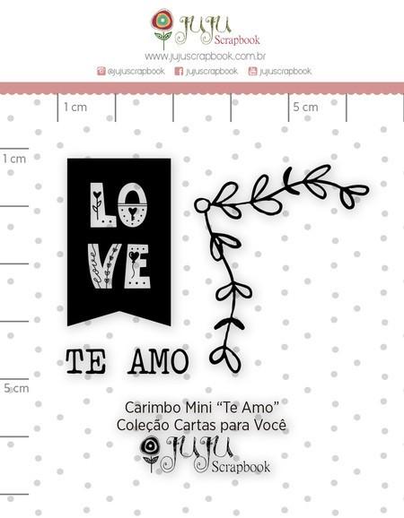 Cartela de Carimbos de Silicone Cartas para Você Mini Te amo - Juju Scrapbook