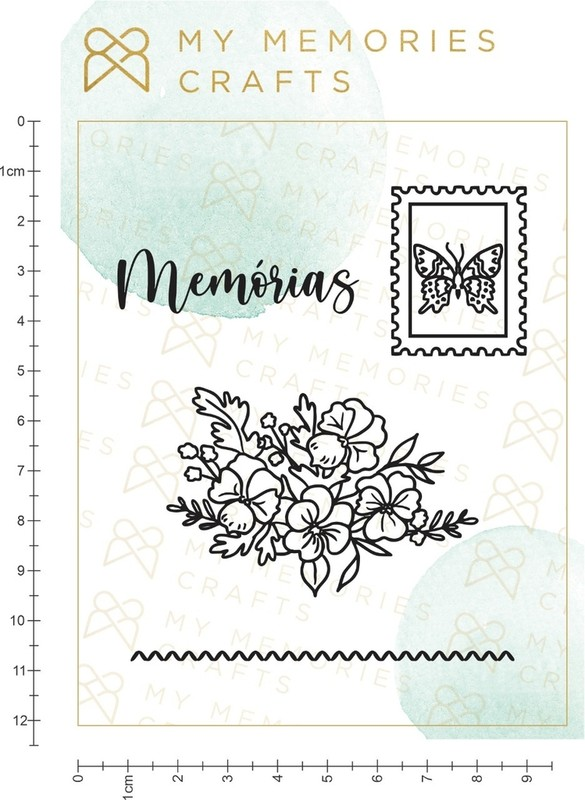 Cartela de Carimbos de Silicone My Memories MMCMW2-10 - My Memories Crafts