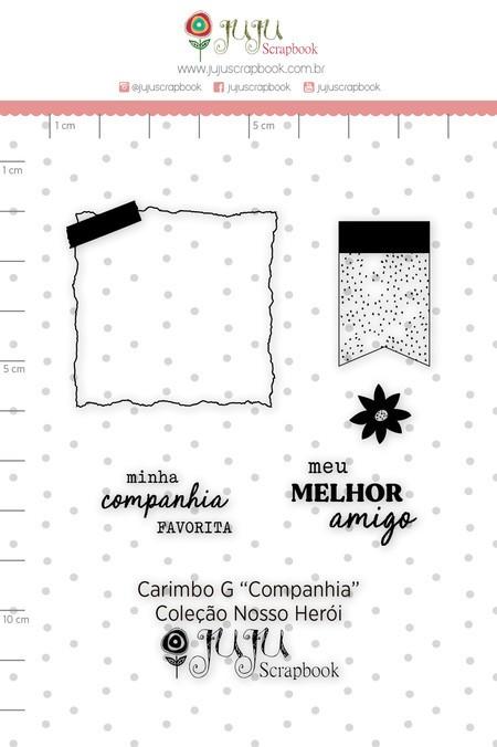 Cartela de Carimbos de Silicone Nosso Herói G Companhia - Juju Scrapbook