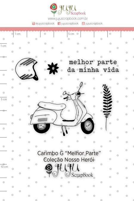 Cartela de Carimbos de Silicone Nosso Herói M Melhor Parte - Juju Scrapbook