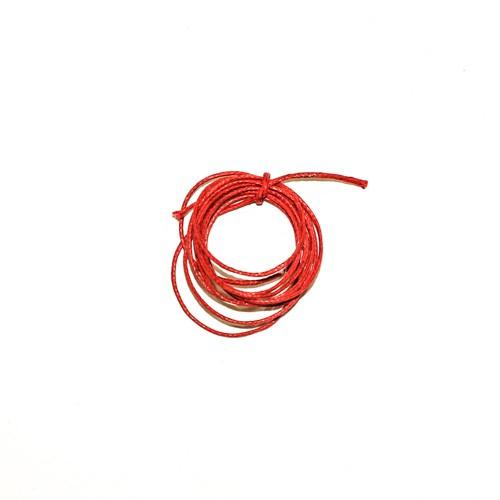 Cordão Encerado Poliéster Vermelho 1m - Newz