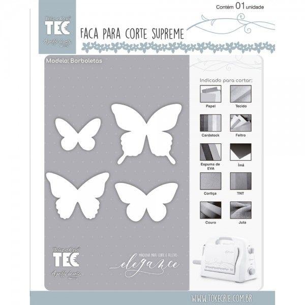 Faca de Corte Scrapbook Supreme Borboletas 21462 (FCS003) - Toke e Crie