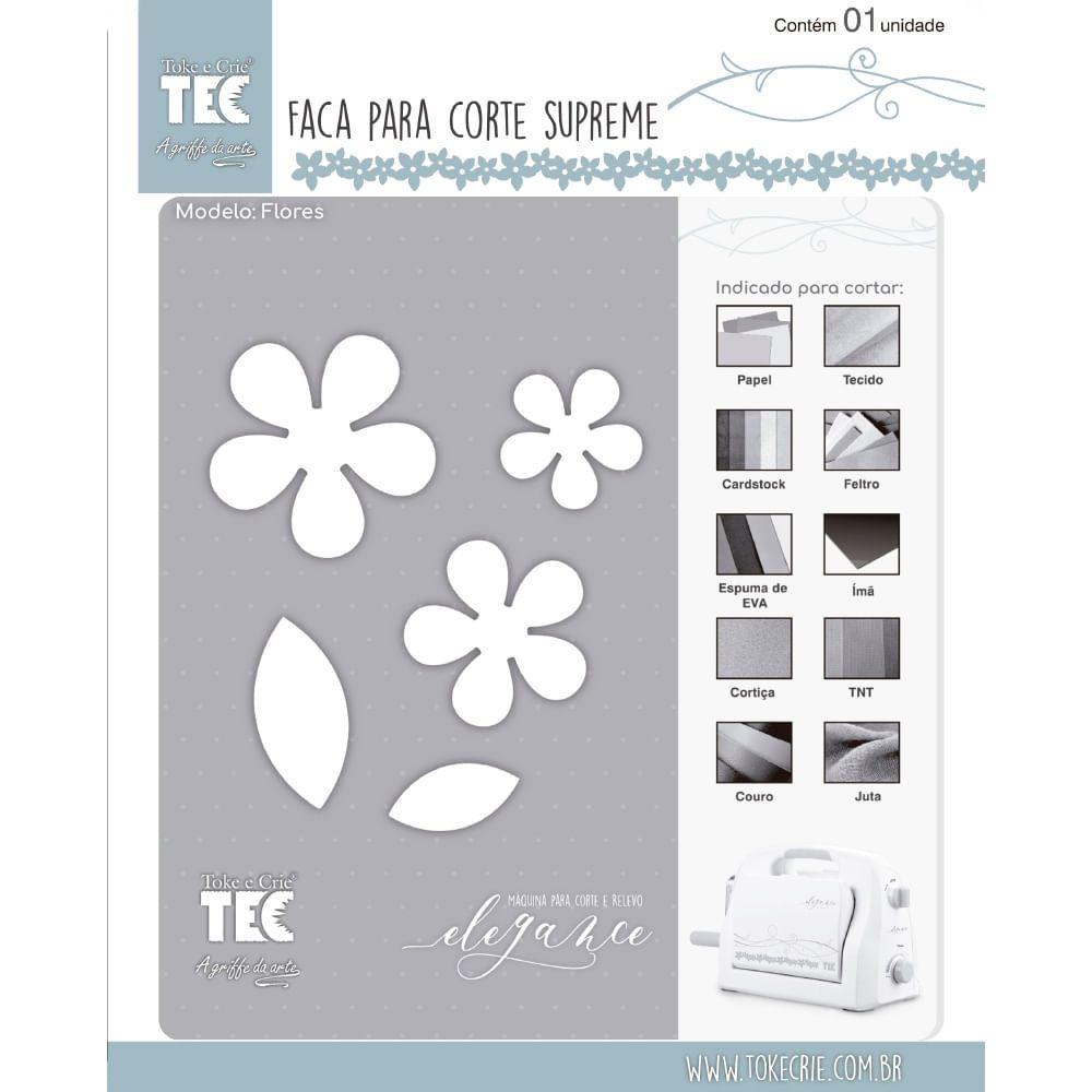 Faca de Corte Scrapbook Supreme Flores 21461 (FCS002) - Toke e Crie