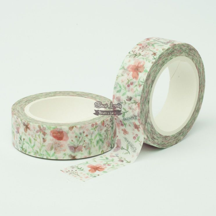 Fita Scrapbook Washi Tape Flores 04 10m - Scrap Lovely