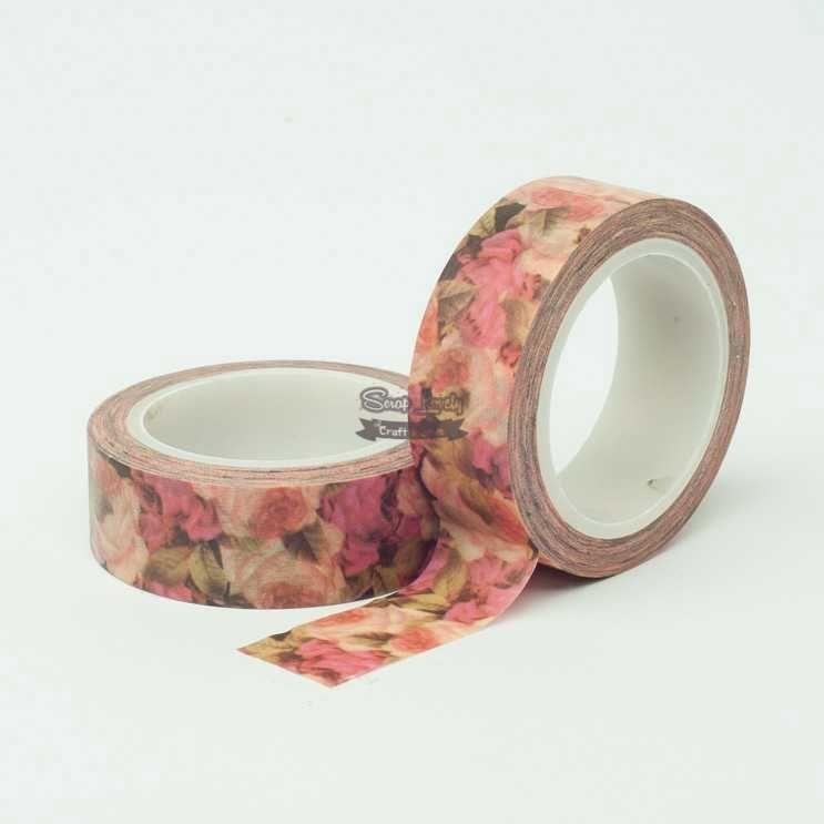 Fita Scrapbook Washi Tape Flores 09 10m - Scrap Lovely