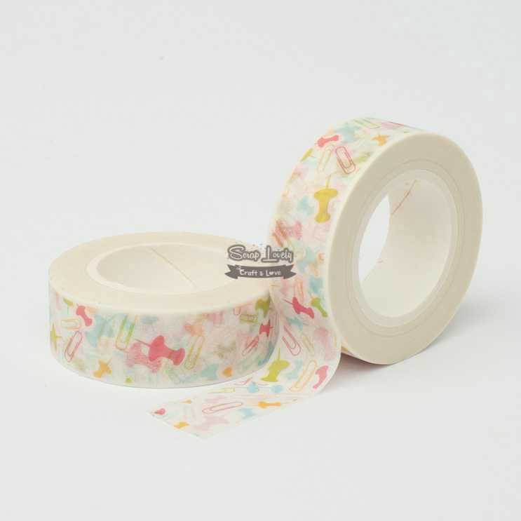 Fita Scrapbook Washi Tape Pin 10m - Scrap Lovely