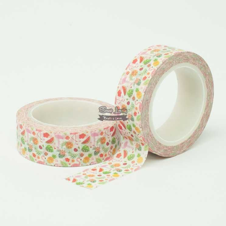 Fita Scrapbook Washi Tape Tropical 10m - Scrap Lovely