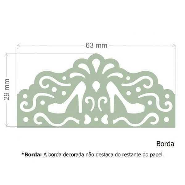 Furador Scrapbook Borda Max Sapatinhos 16828 (FBMA10) - Toke e Crie