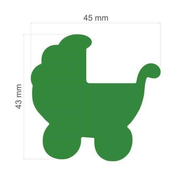 Furador Scrapbook Extra Gigante Carrinho de Bebê 13557 (FEGA029) - Toke e Crie